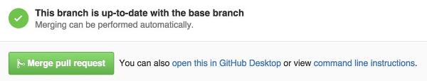 GitHub merge pull request